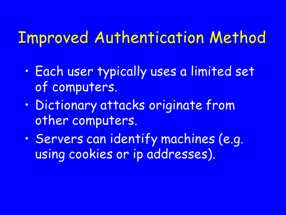 Improved Authentication Method