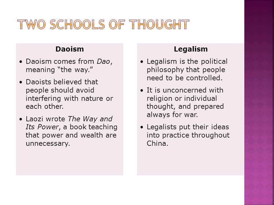 Two Schools of Thought Daoism