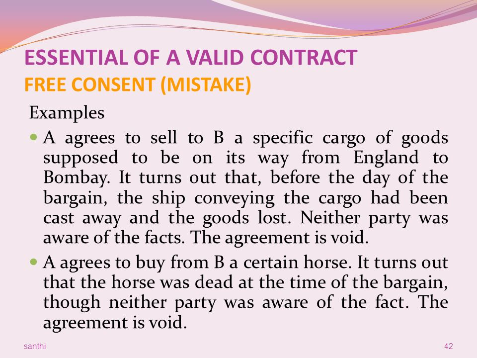 Lovely 42 ESSENTIAL OF A VALID CONTRACT ...