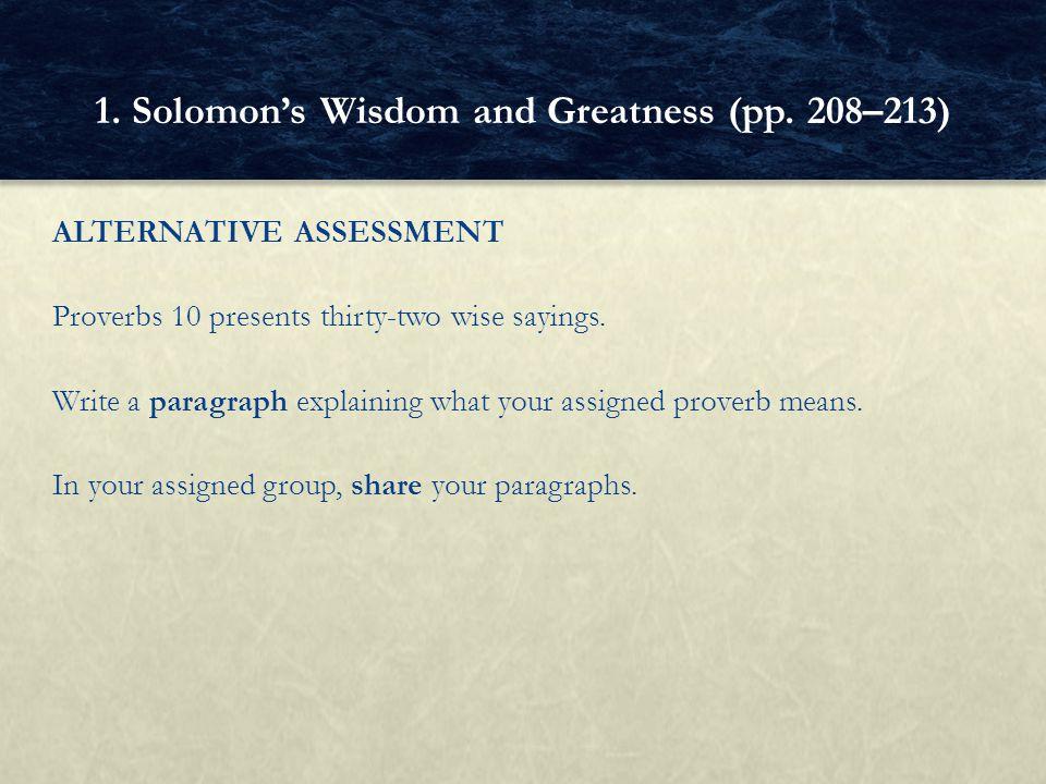 wisdom paragraph
