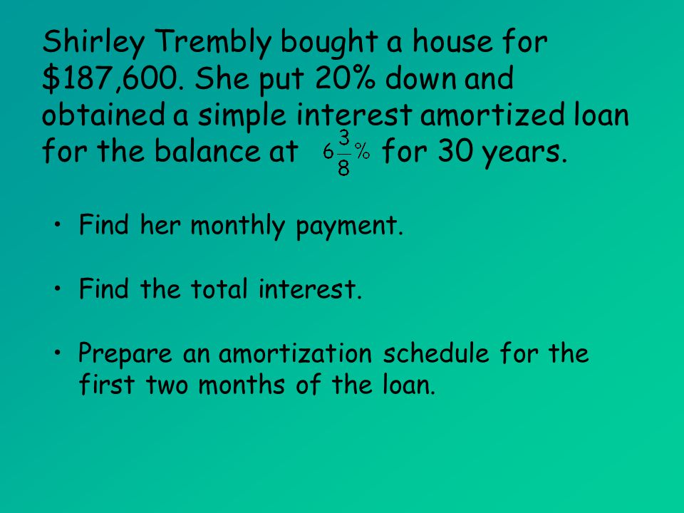 amortized loans mat 142 amortized loans ppt download