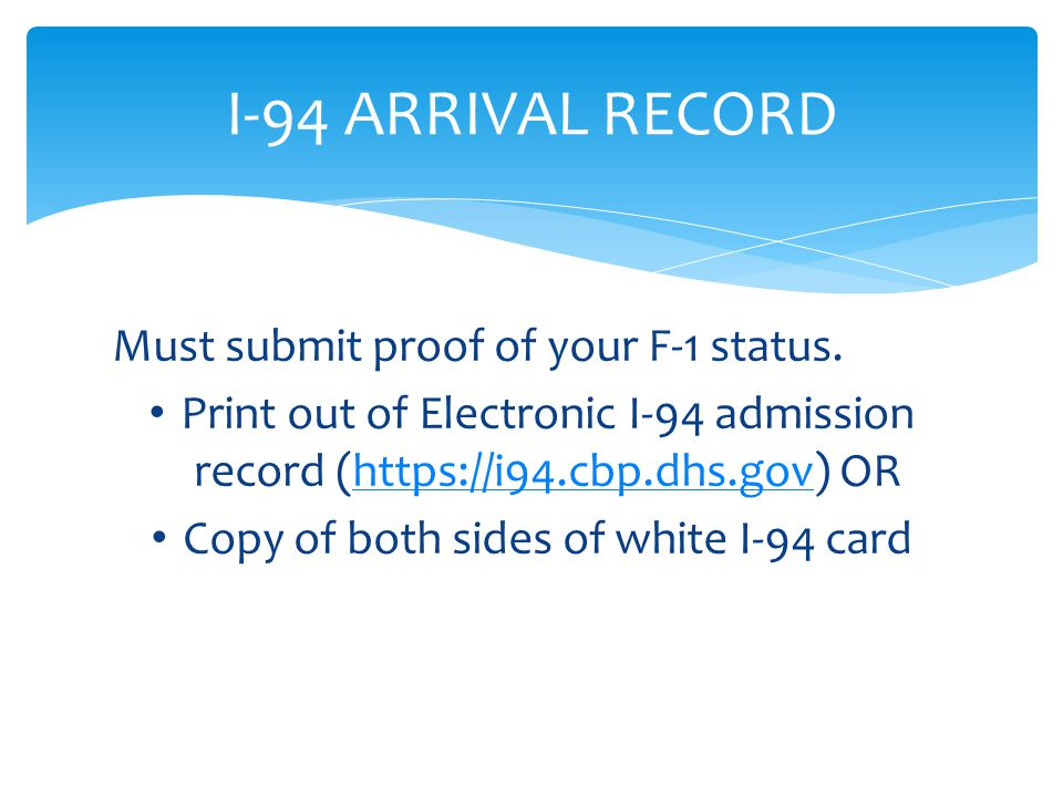 Copy of both sides of white I-94 card