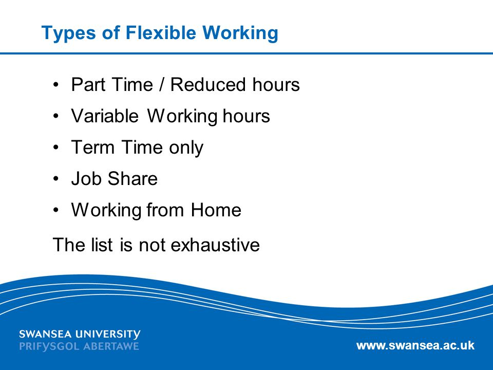 Types of Flexible Working