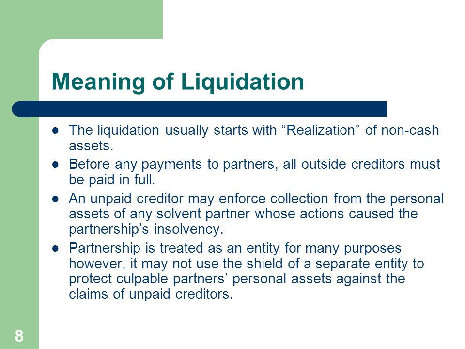 Meaning of Liquidation
