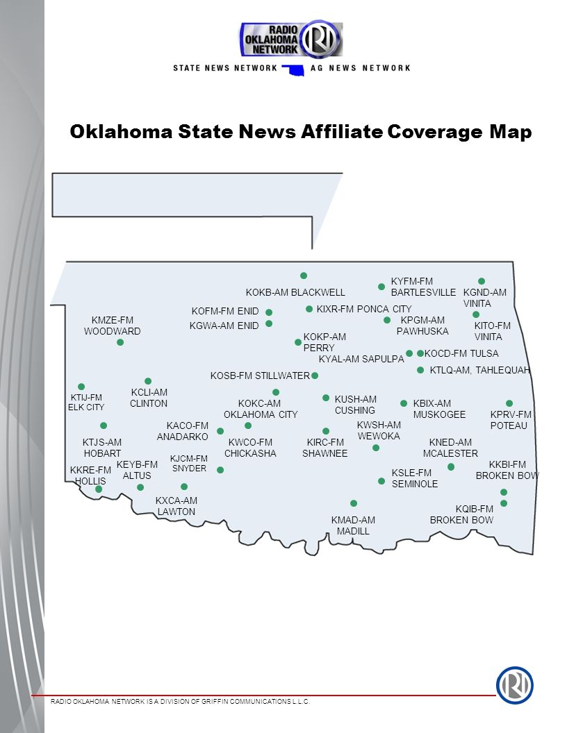 Oklahoma State News Affiliate Coverage Map