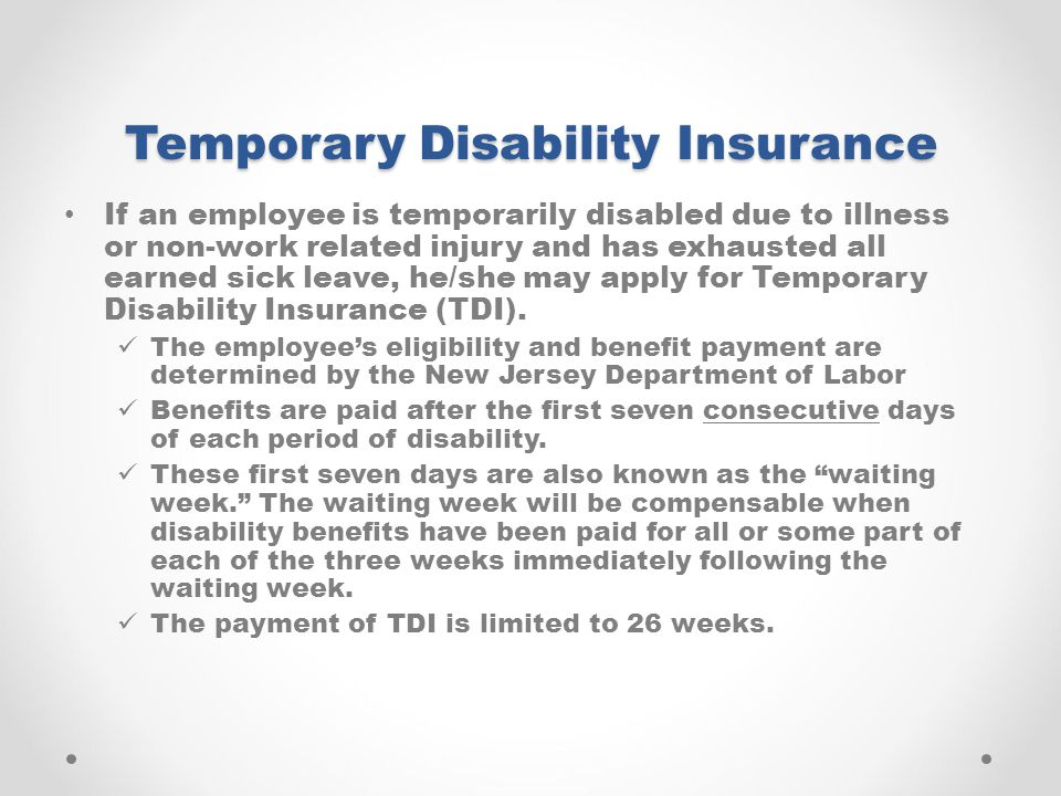 Temporary Disability Insurance
