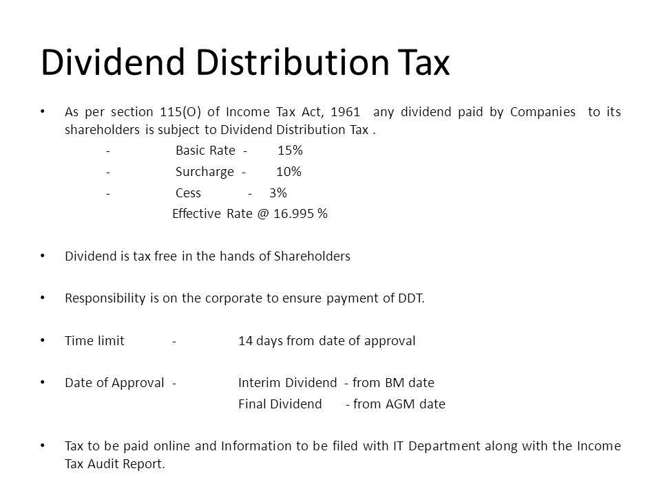 DECLARATION AND PAYMENT OF DIVIDEND - ppt download