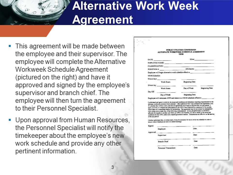 Alternative Work Week Schedules Ppt Video Online Download