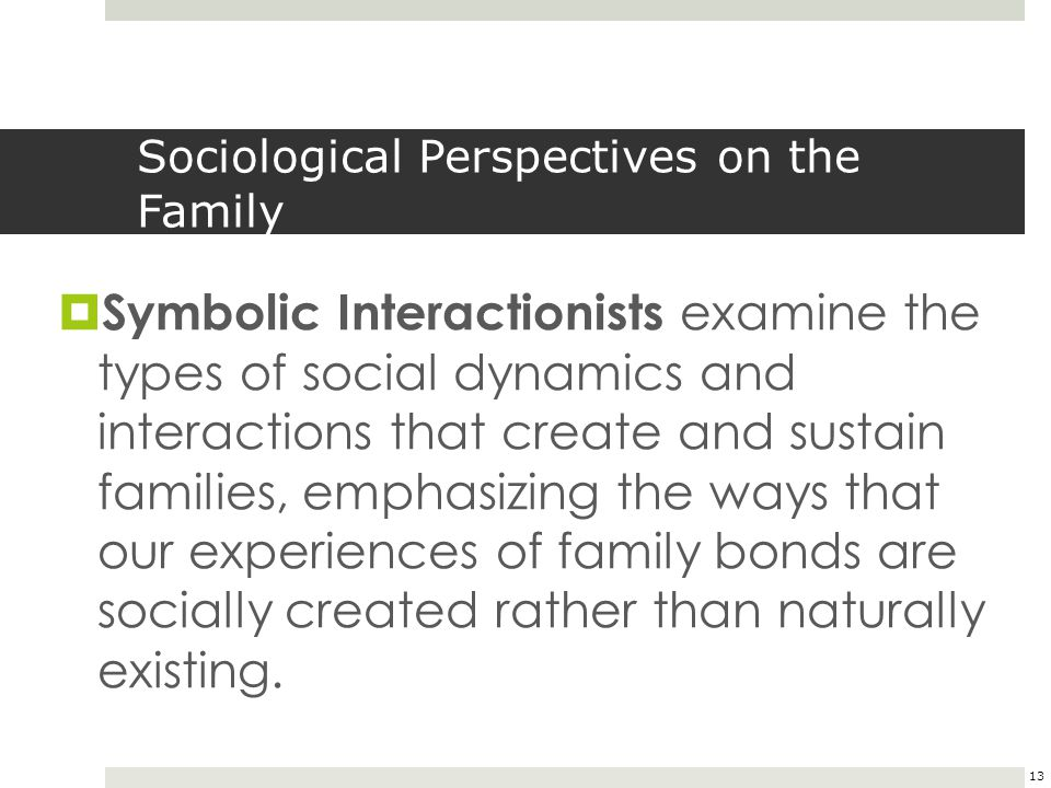 Sociological Perspectives on the Family