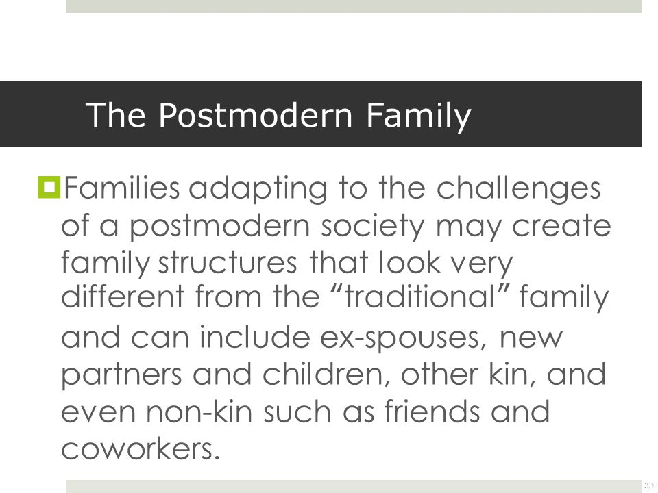 why is family important in postmodern life