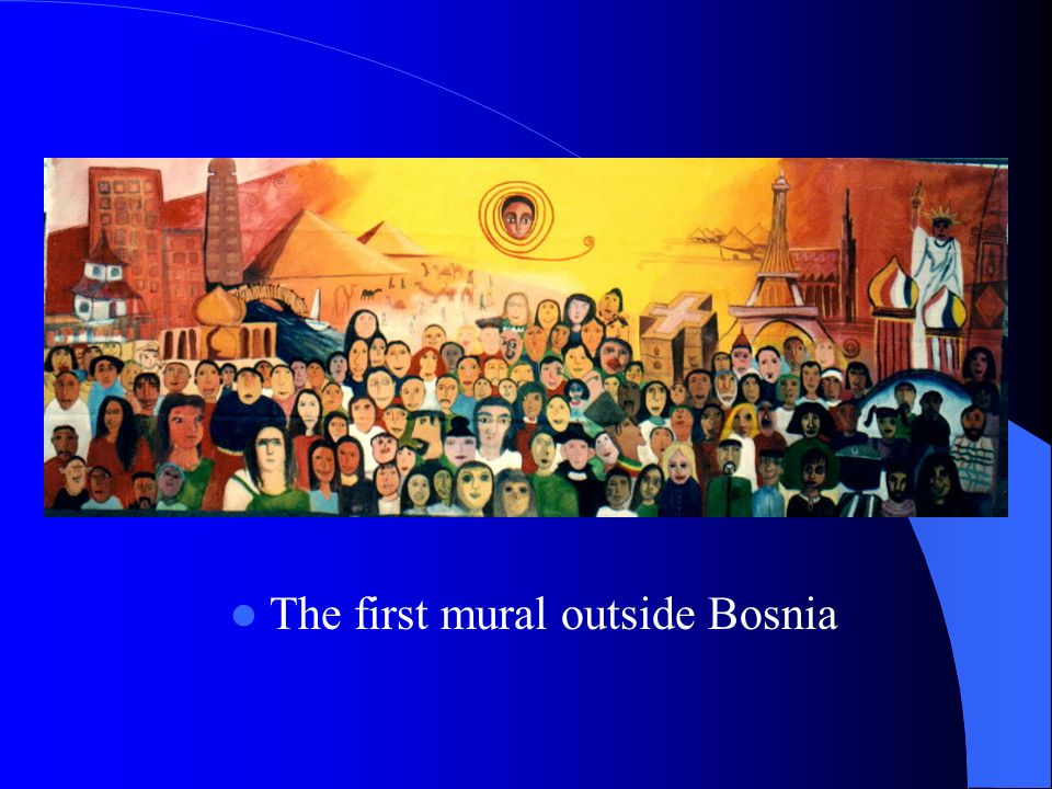 The first mural outside Bosnia