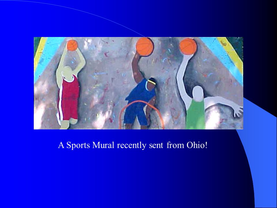 A Sports Mural recently sent from Ohio!