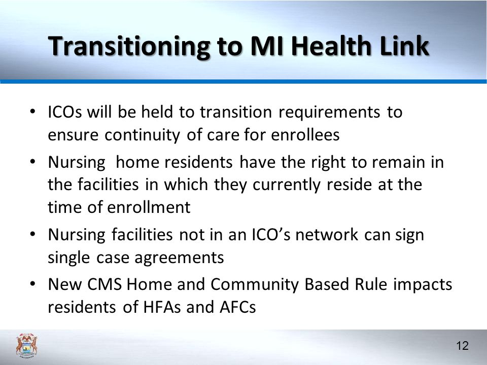 Transitioning to MI Health Link