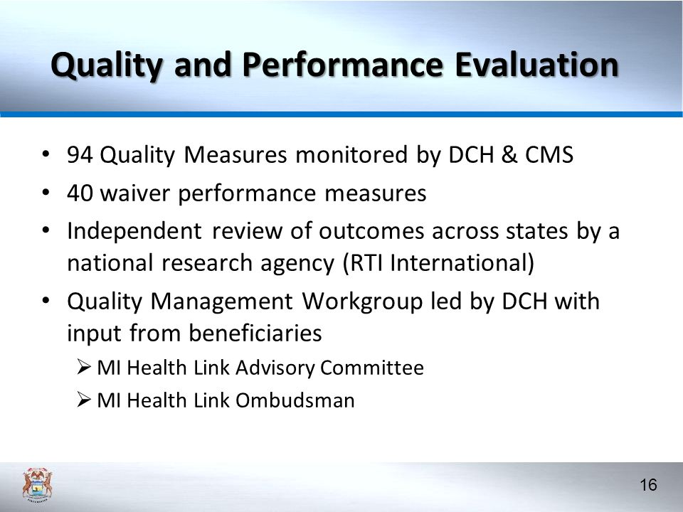 Quality and Performance Evaluation