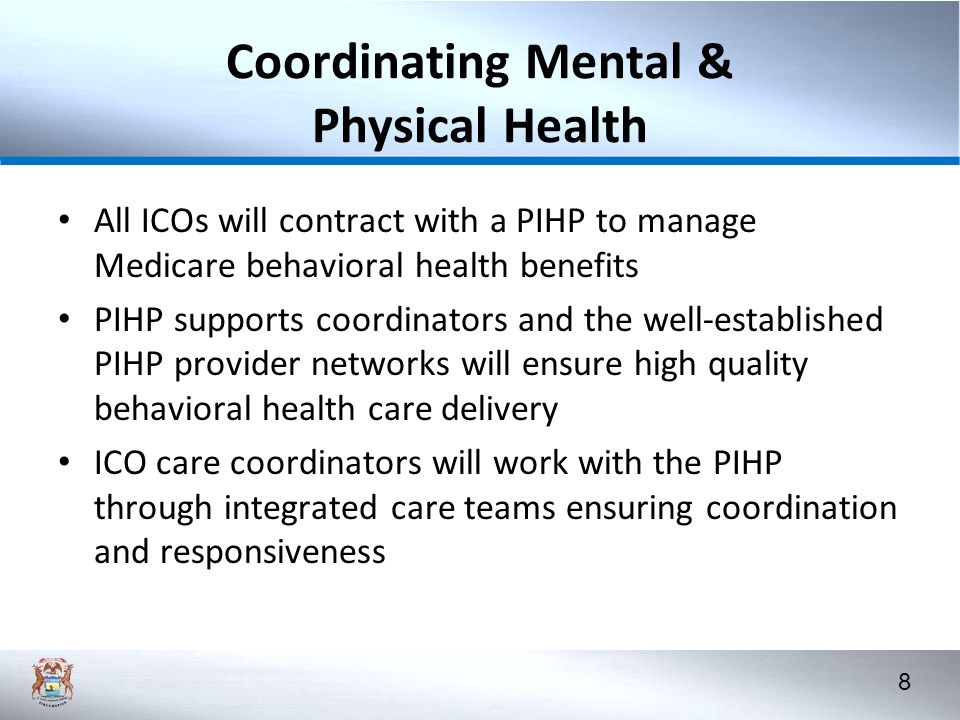 Coordinating Mental & Physical Health