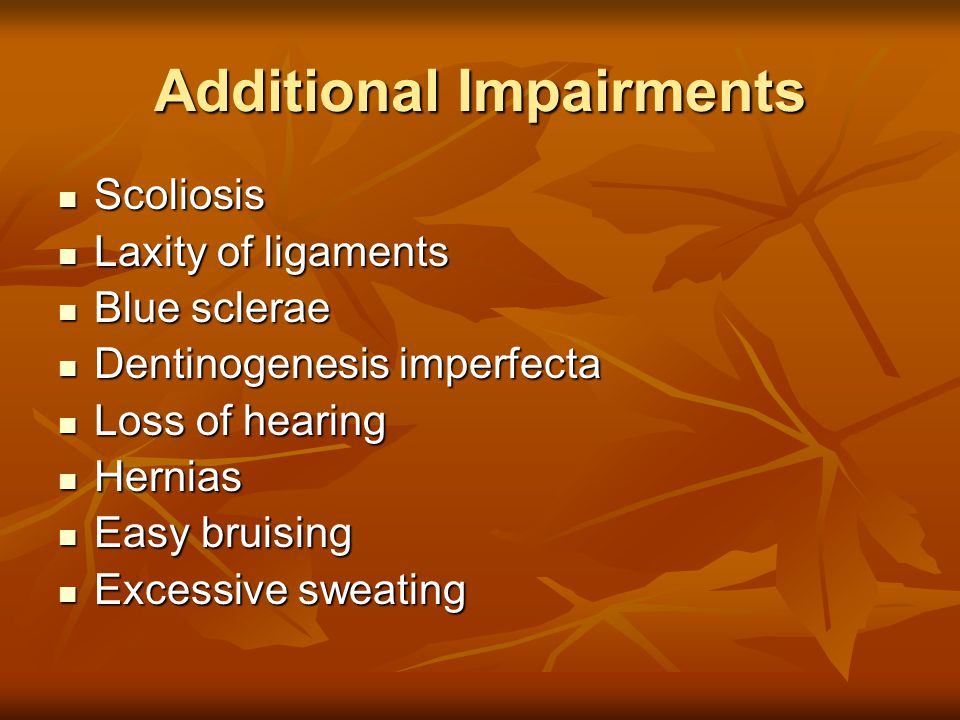 Additional Impairments