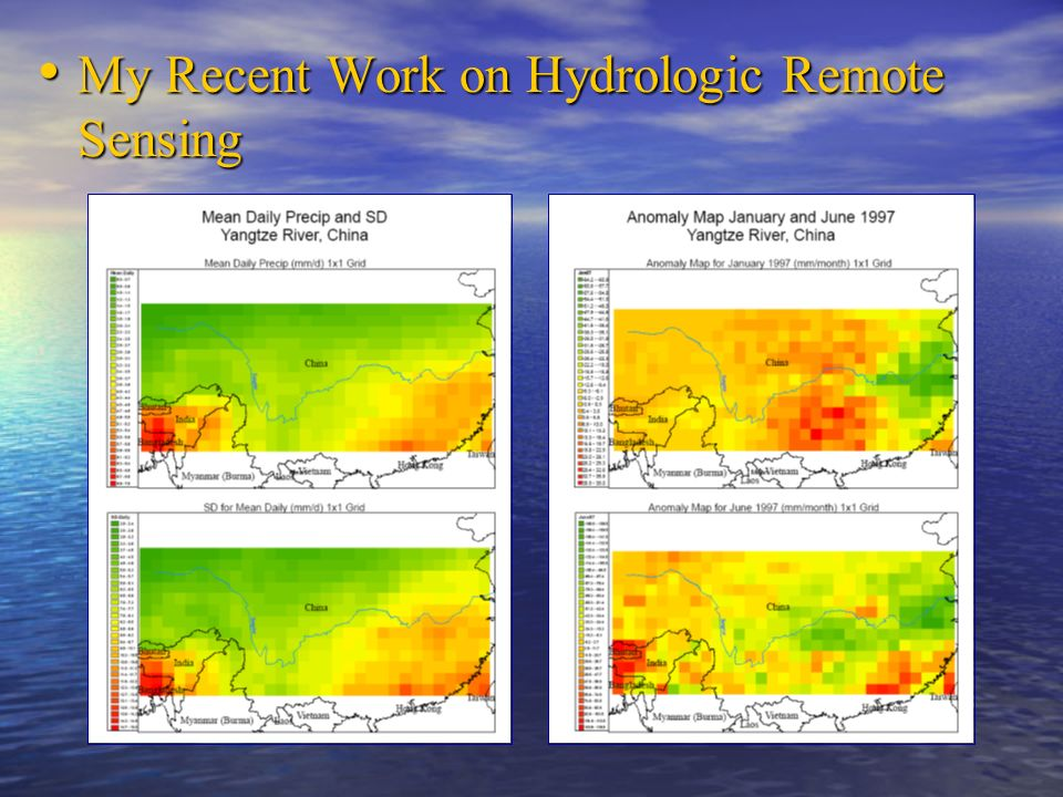 My Recent Work on Hydrologic Remote Sensing