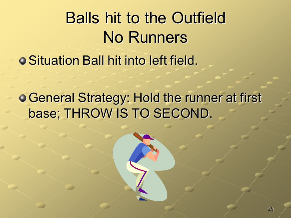 Balls hit to the Outfield No Runners