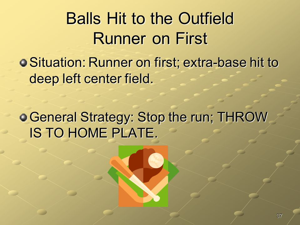 Balls Hit to the Outfield Runner on First