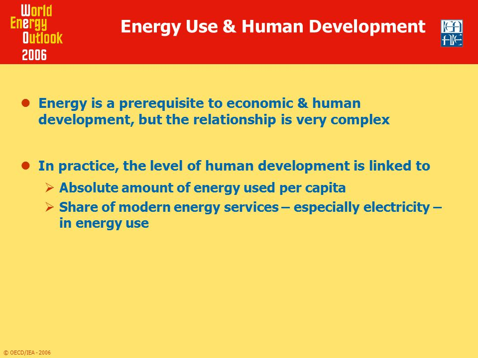 Energy Use & Human Development
