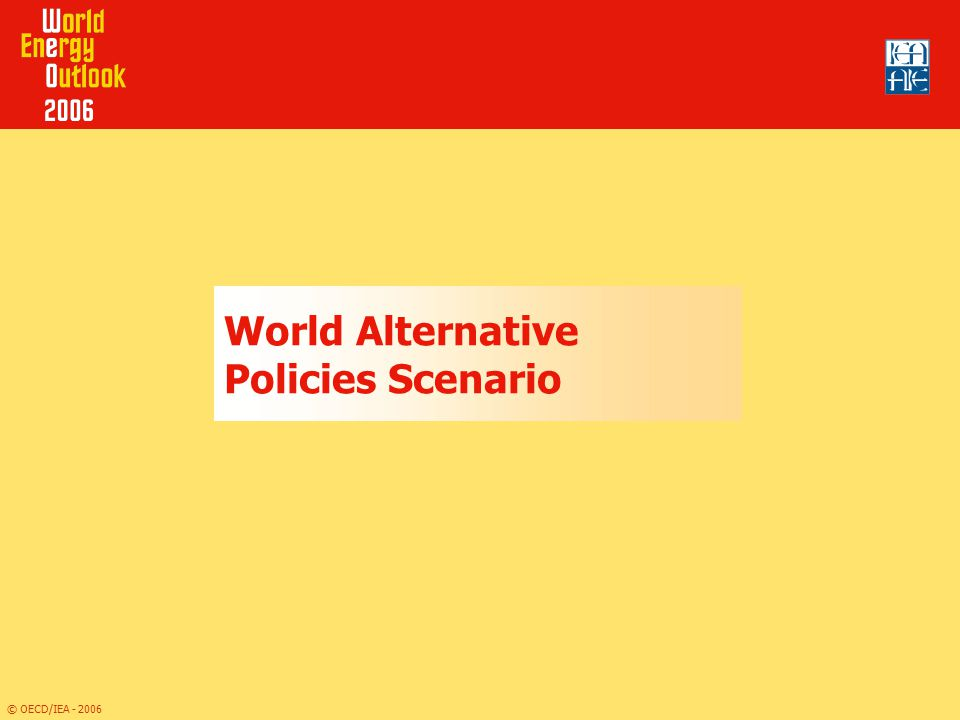 World Alternative Policies Scenario