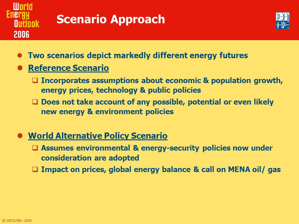 Scenario Approach Reference Scenario World Alternative Policy Scenario