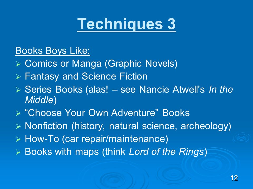 Techniques 3 Books Boys Like: Comics or Manga (Graphic Novels)