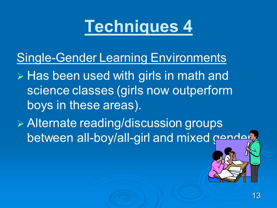 Techniques 4 Single-Gender Learning Environments