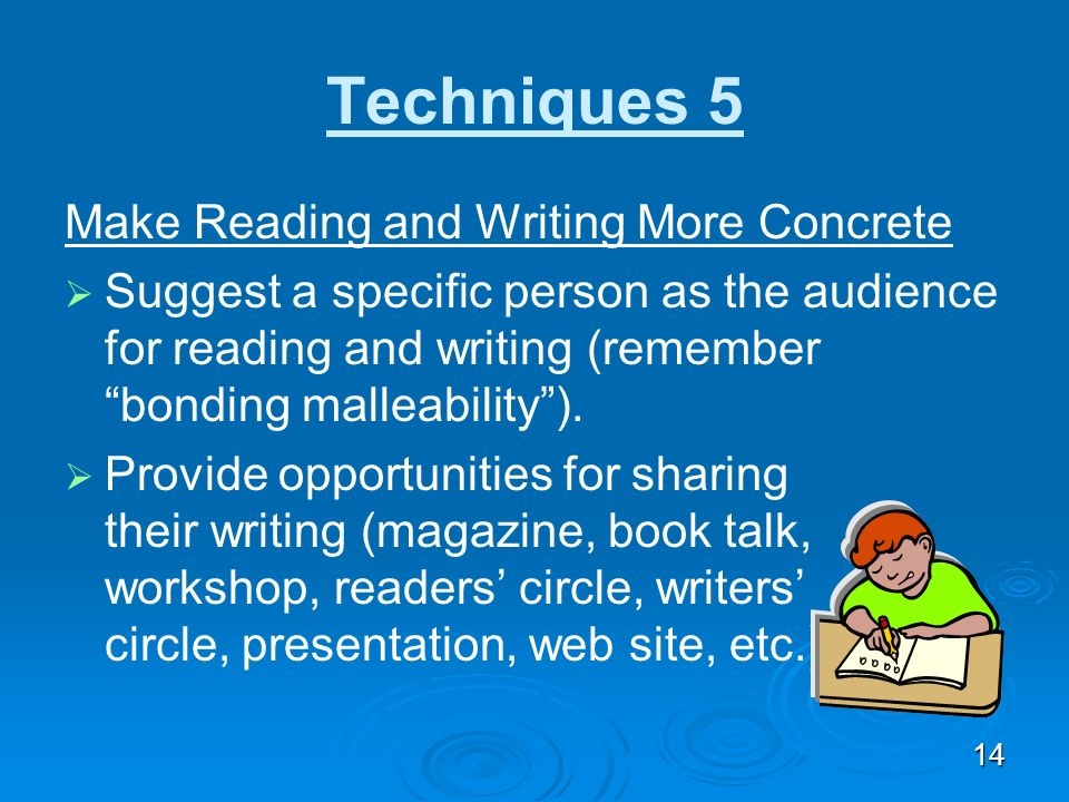 Techniques 5 Make Reading and Writing More Concrete