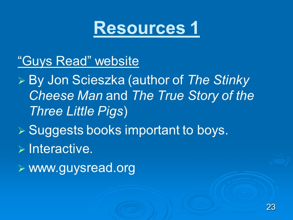 Resources 1 Guys Read website