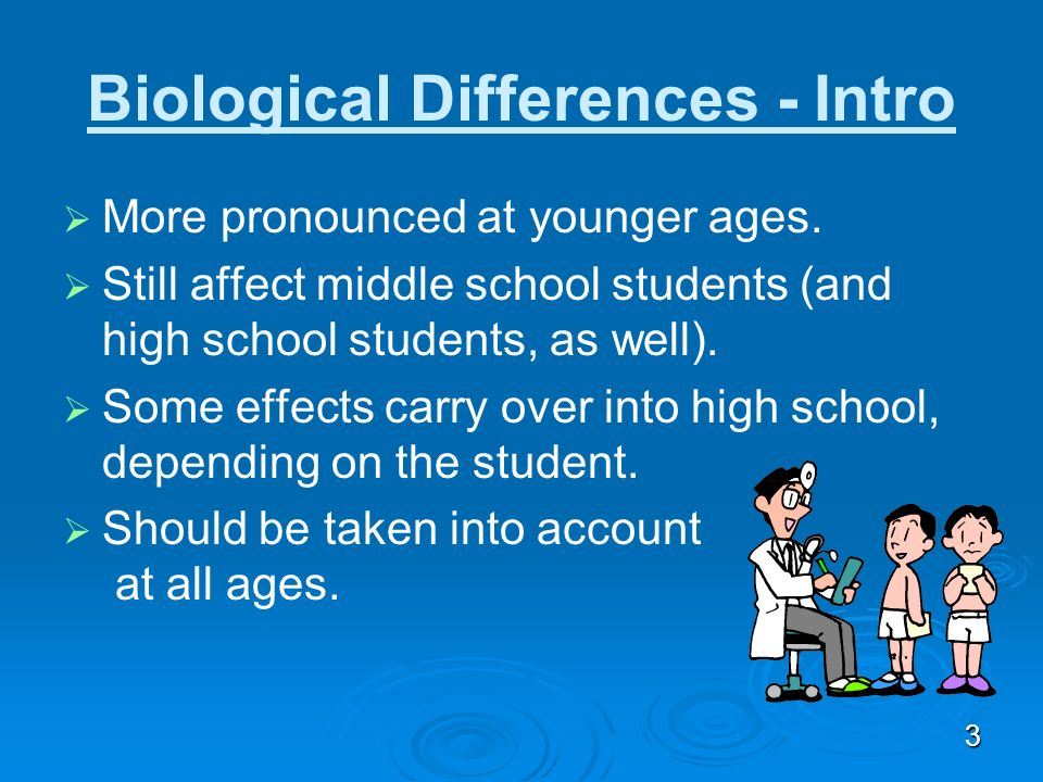 Biological Differences - Intro