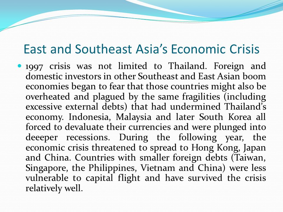 East and Southeast Asia's Economic Crisis