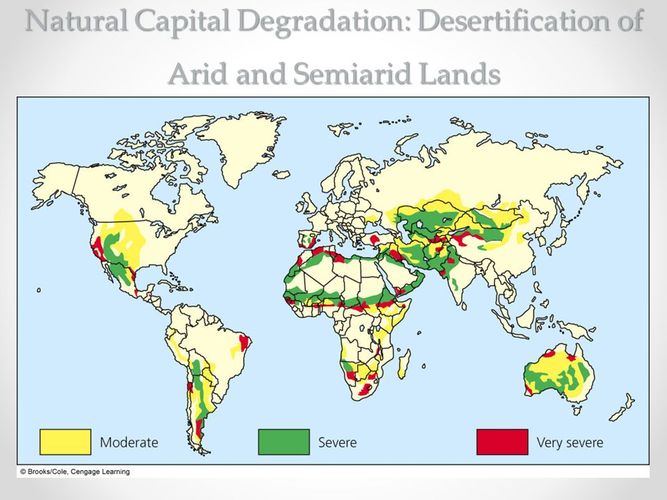 Natural Capital Degradation: Desertification of Arid and Semiarid Lands