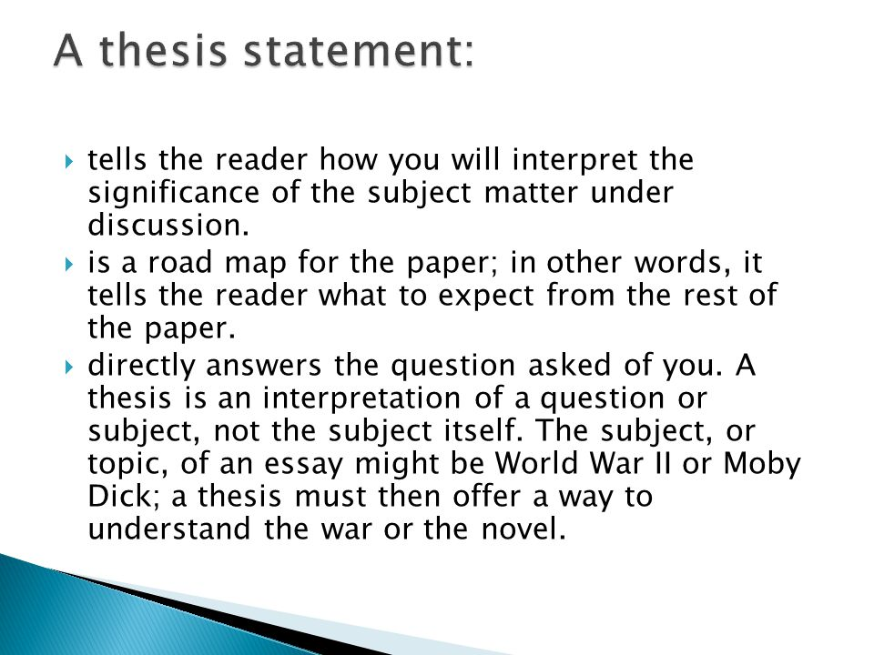 ap thesis statements