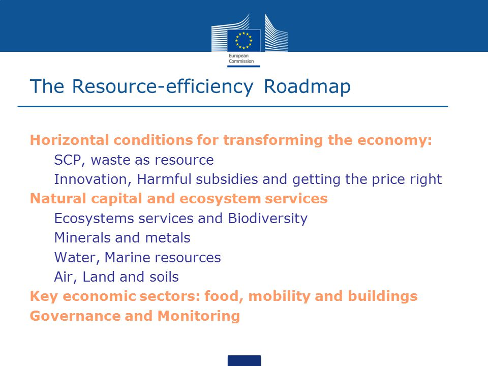 The Resource-efficiency Roadmap