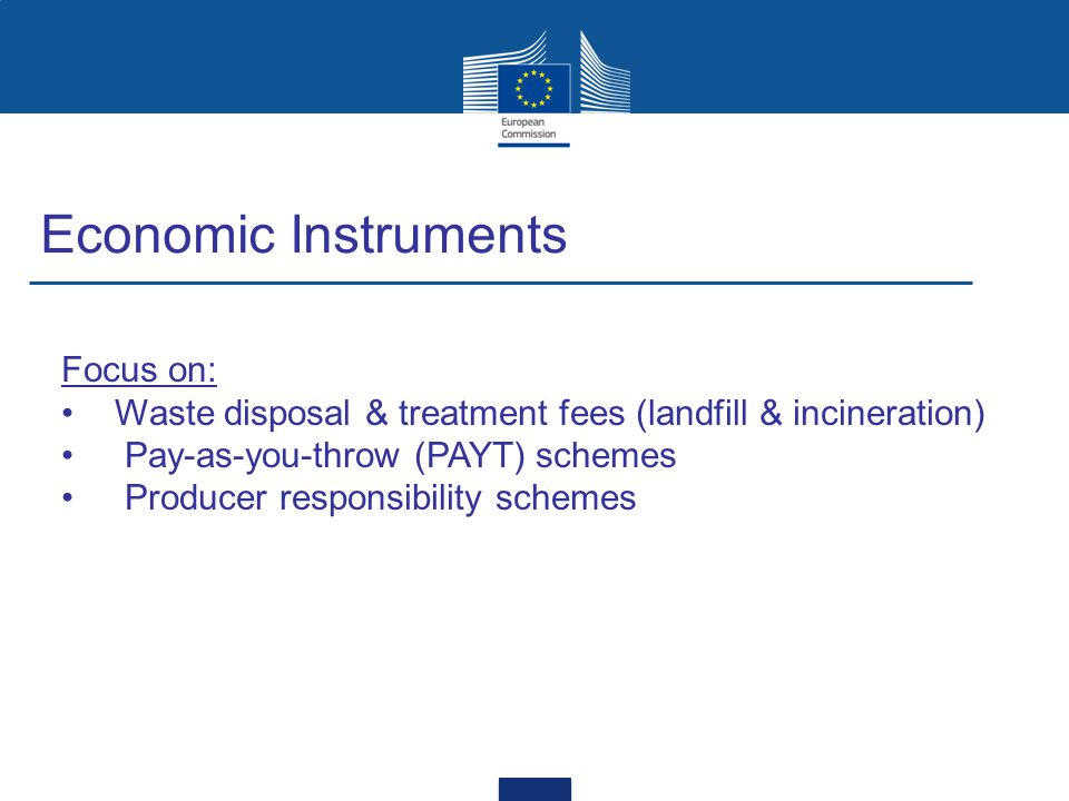 Economic Instruments Focus on: