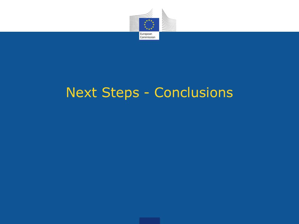 Next Steps - Conclusions