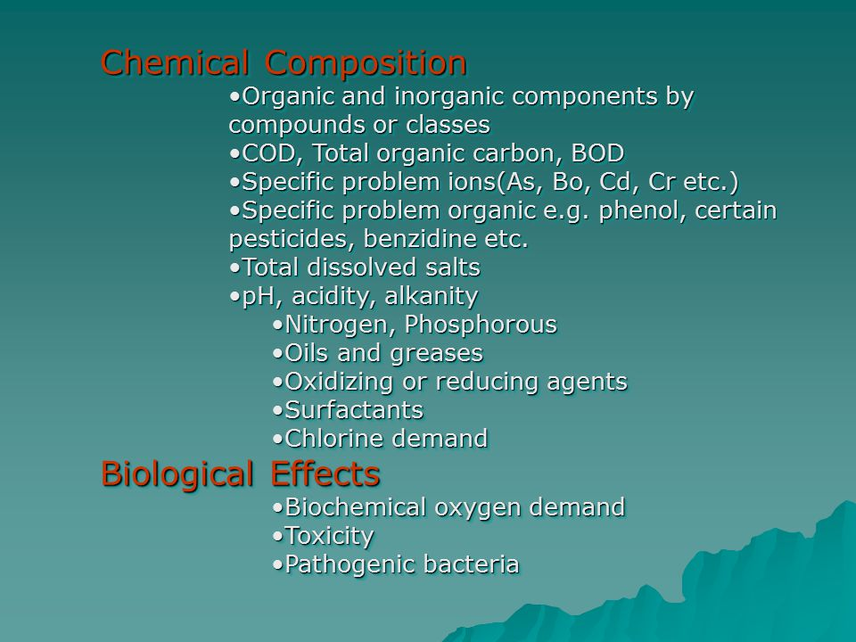 Chemical Composition Biological Effects
