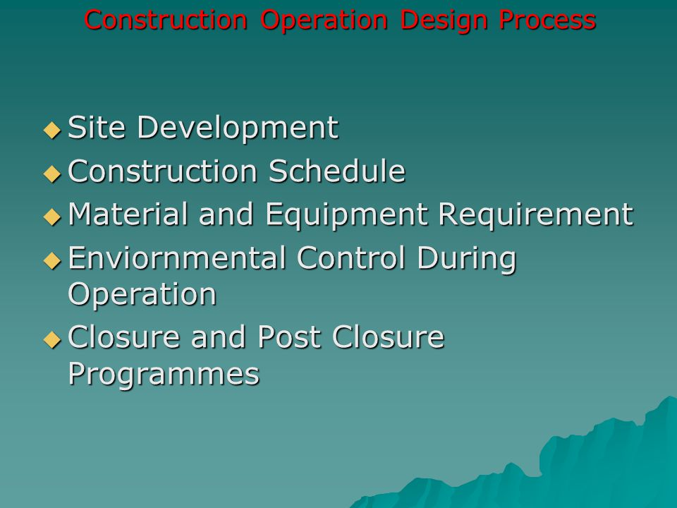 Construction Operation Design Process