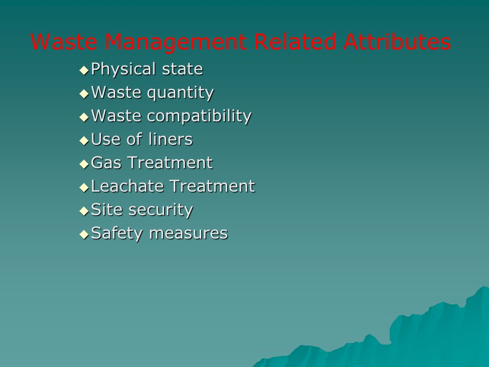 Waste Management Related Attributes