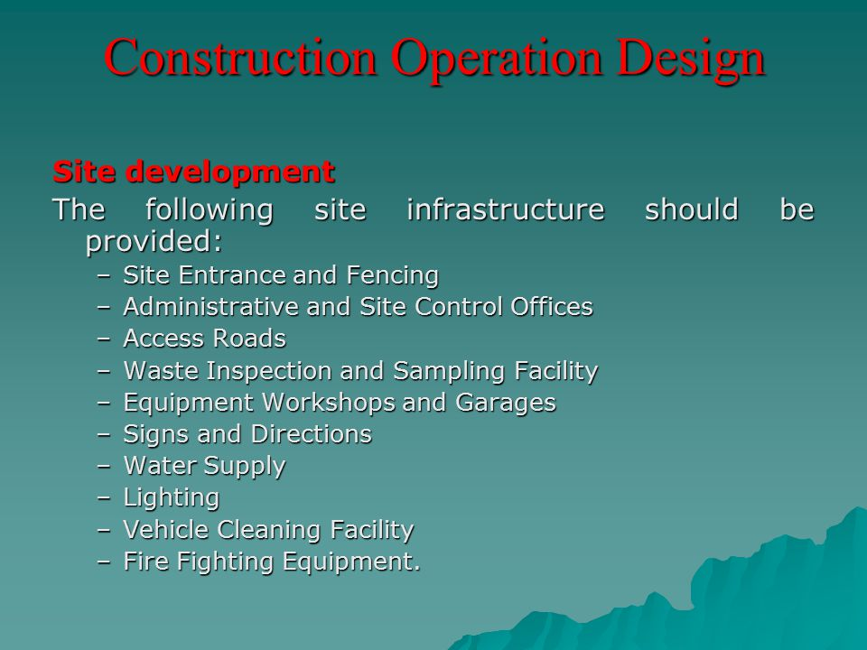 Construction Operation Design