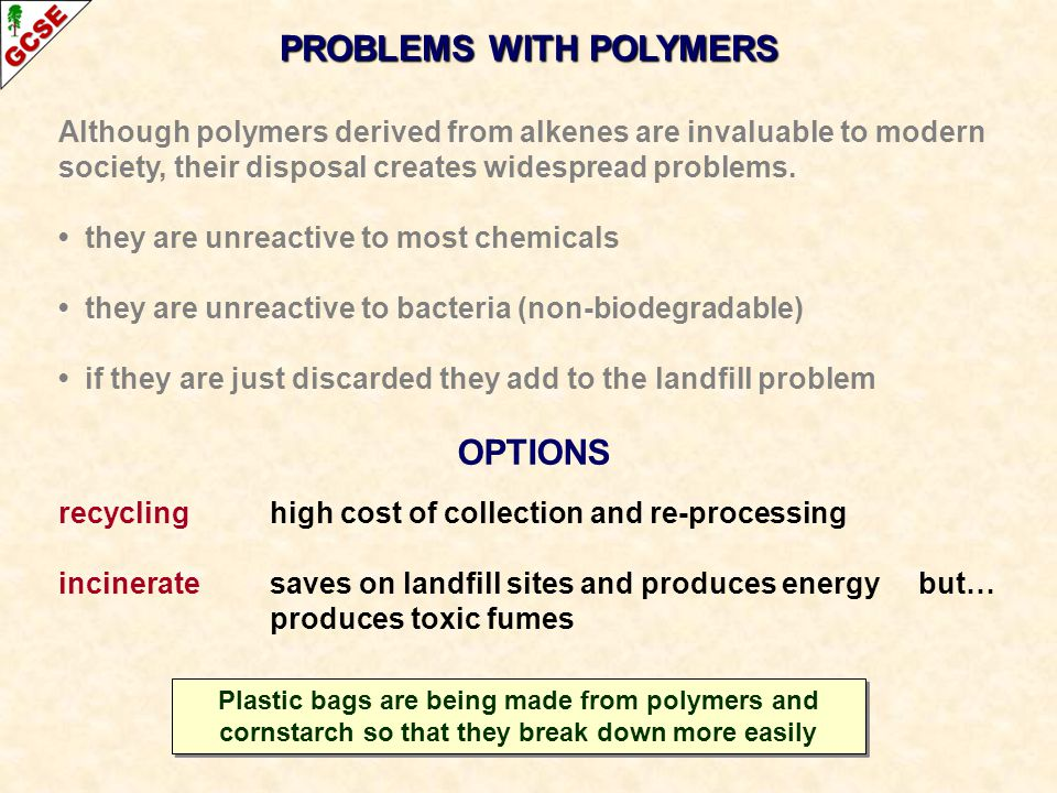 PROBLEMS WITH POLYMERS OPTIONS