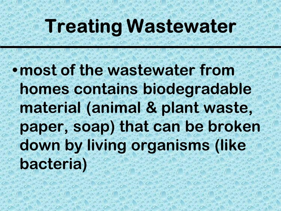 Treating Wastewater