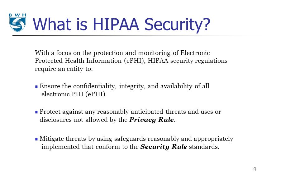 What is HIPAA Security