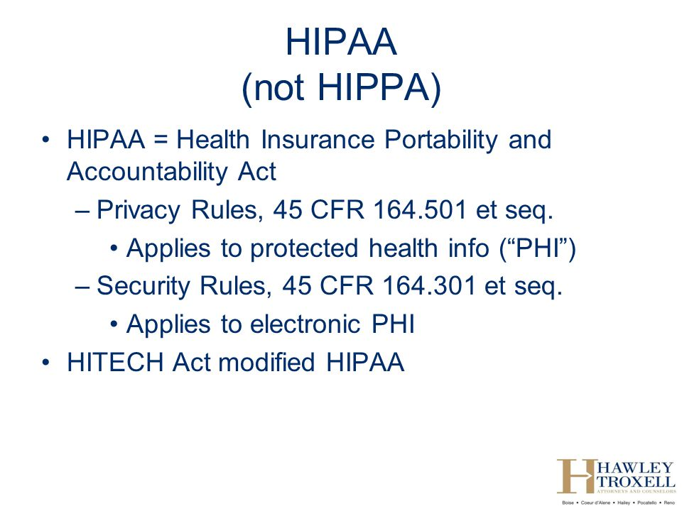 HIPAA for Lawyers Kim C  Stanger (9/11)  - ppt video online