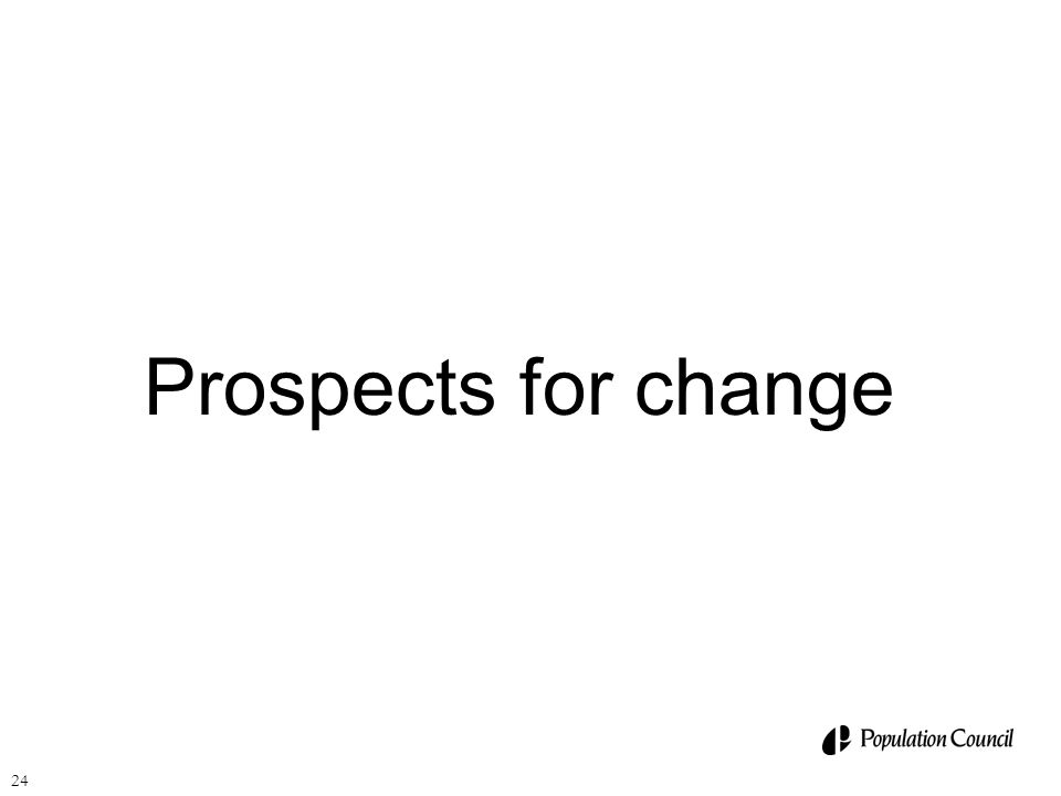 Prospects for change