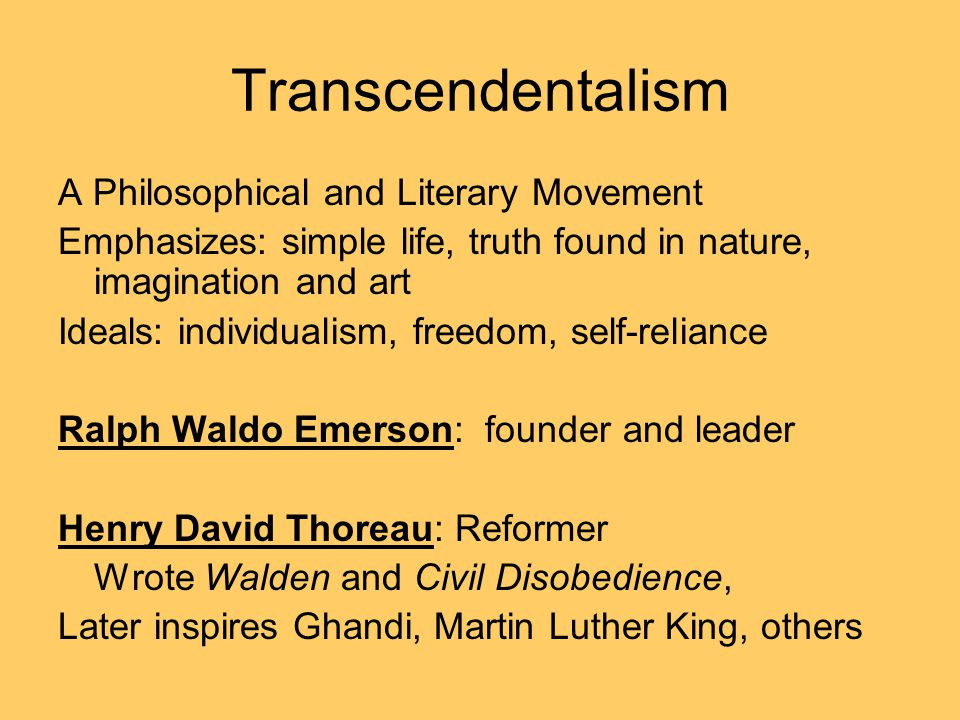Transcendentalism A Philosophical and Literary Movement