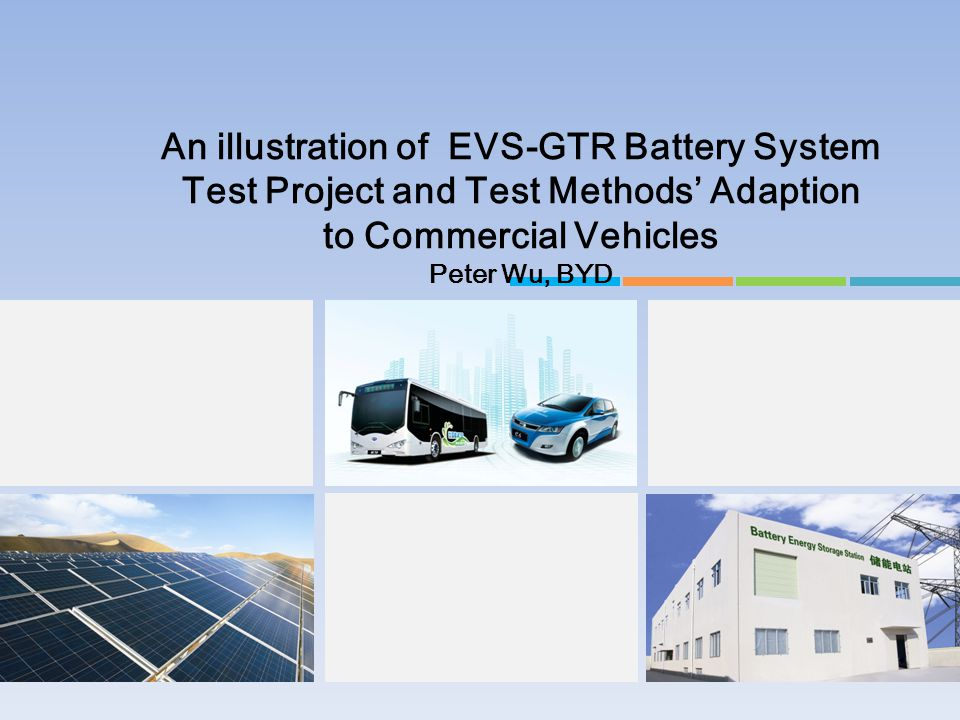An illustration of EVS-GTR Battery System Test Project and Test