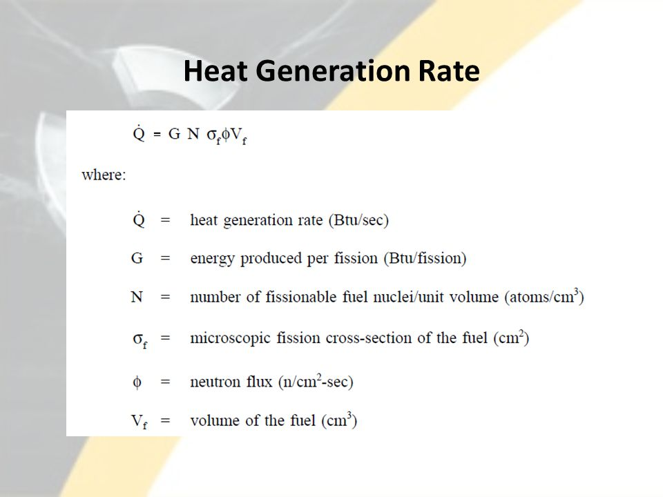 Heat Generation Rate
