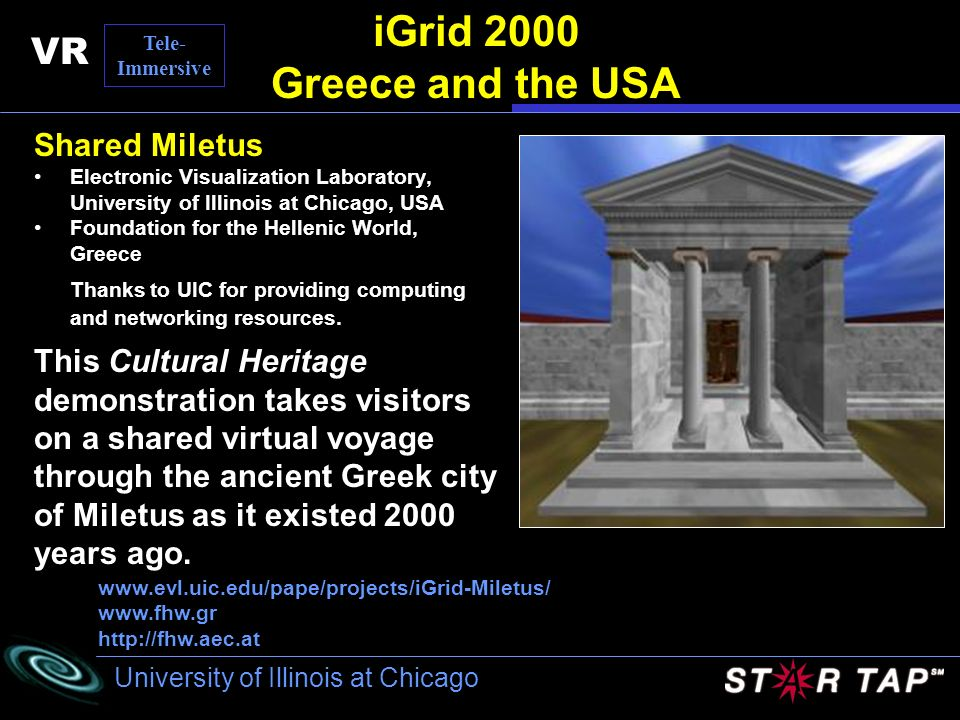 iGrid 2000 Greece and the USA